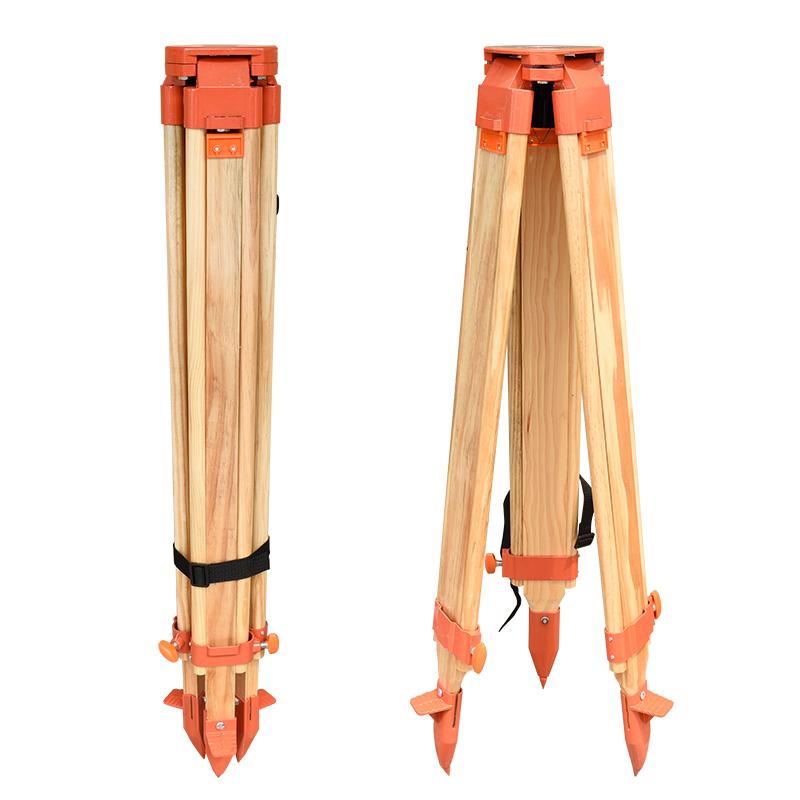全站仪木质脚架铝合金水准仪三脚架配件实木经纬仪脚架