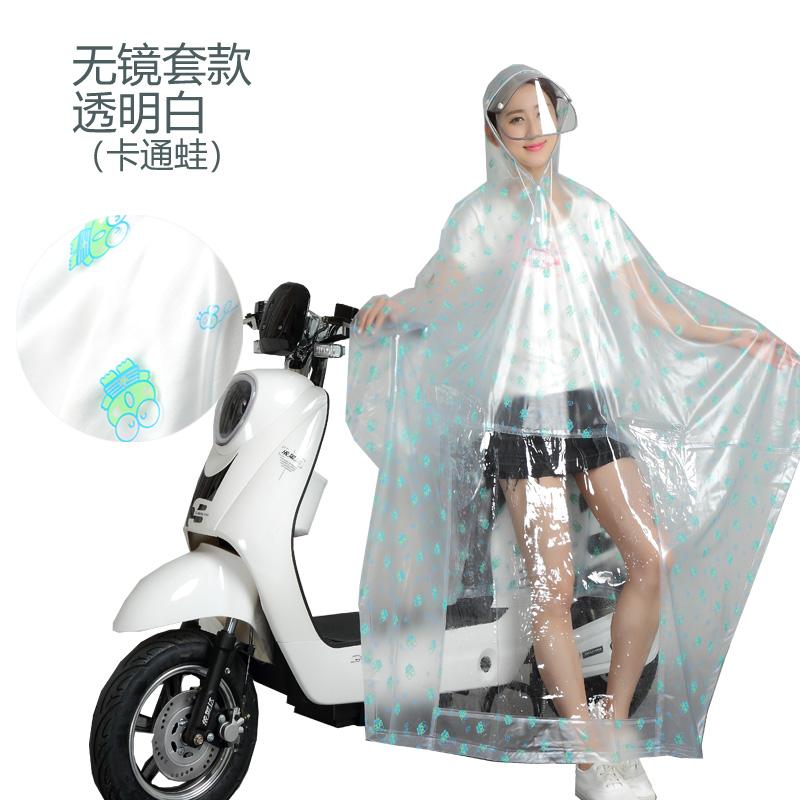 透明电动自行车雨衣单人女成人韩国时尚摩托车骑行电瓶车双人雨披