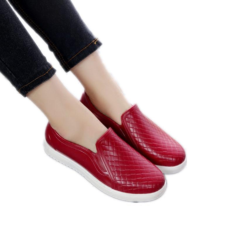 韩国浅口雨鞋女时尚成人低帮短筒防滑防水鞋厨房工作胶鞋情侣夏季