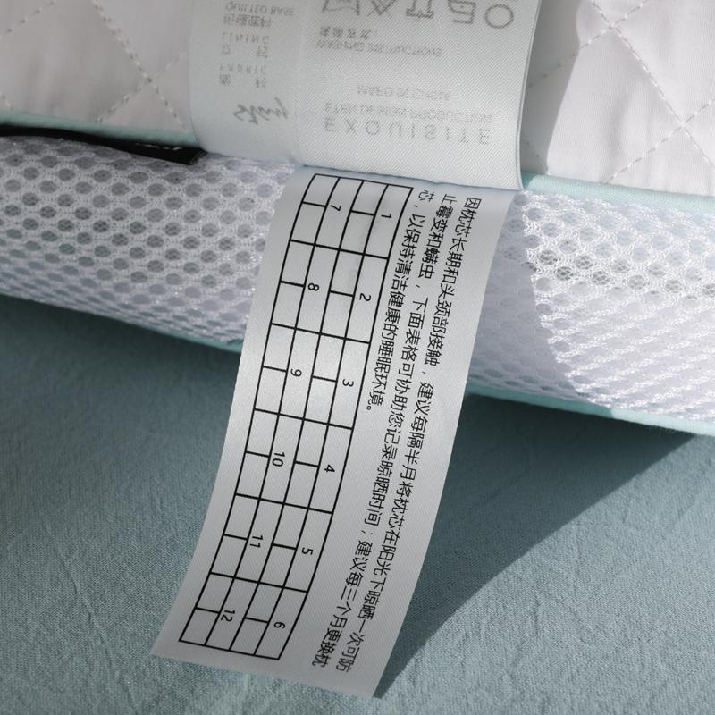 高档出口日本透气PE软管纤维全棉贡缎枕芯单人 颈椎枕头一对拍2