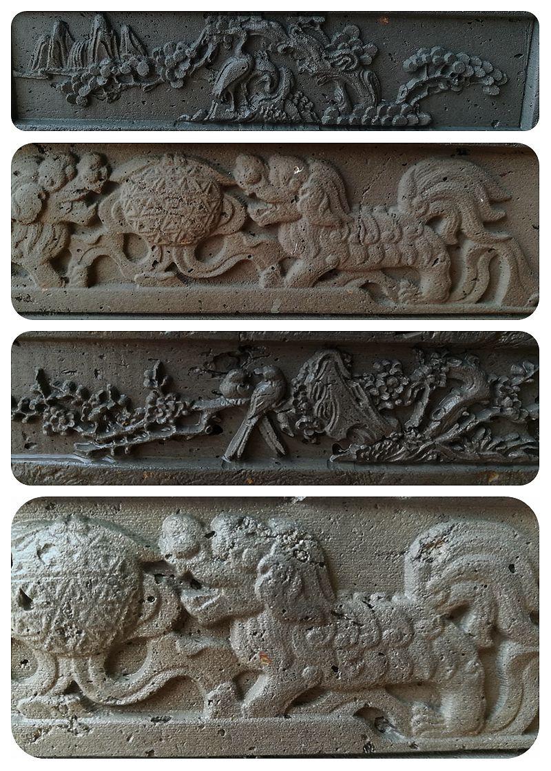 金钱菖蒲粗陶花盆紫砂造型创意老青砖陶瓷古典中国风禅意