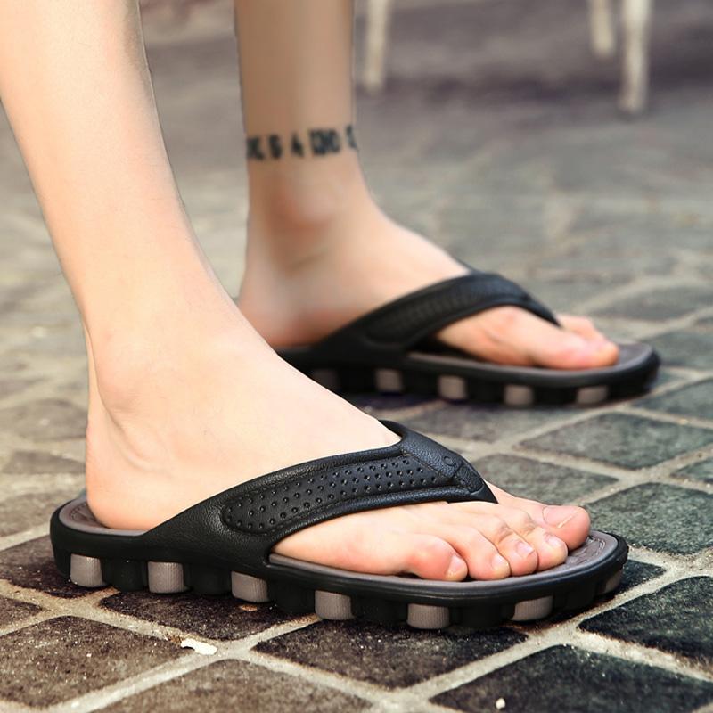 2018新款人字拖男夏季休闲凉拖男士浴室夹趾凉鞋防滑沙滩鞋男拖鞋