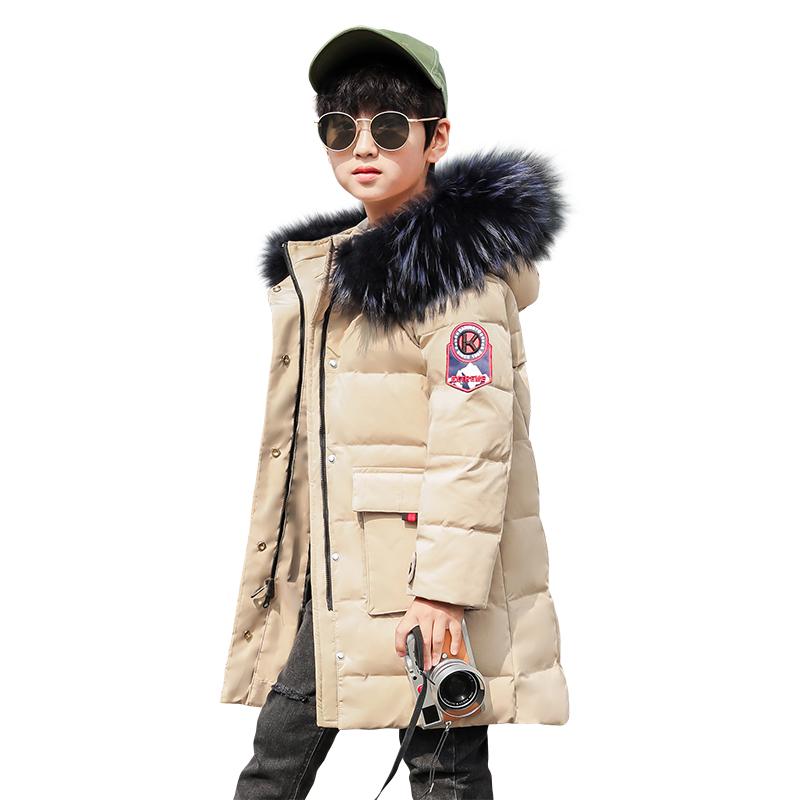 2019新款儿童男童羽绒服中长款中大童装冬季外套加厚正品韩版洋气