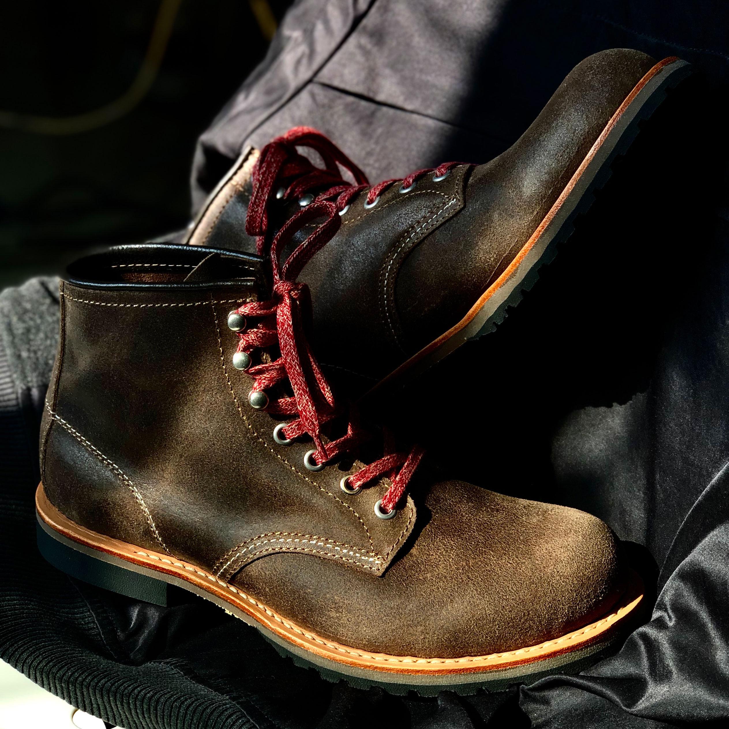 枯骨大逃亡固特异工装靴英国进口翻毛皮复古休闲马丁靴机橙刑靴