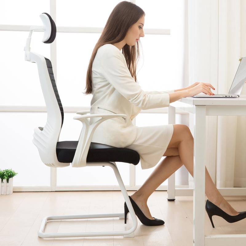 八九间弓形电脑椅办公椅子靠背椅凳子老板椅家用黑色简约舒适久坐