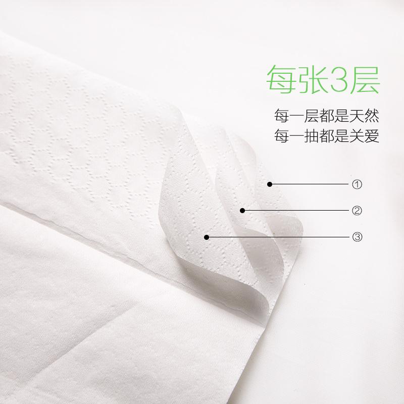 汽车用纸巾 遮阳板纸巾包车载抽纸巾车用餐巾纸 补充装纸巾 4包装