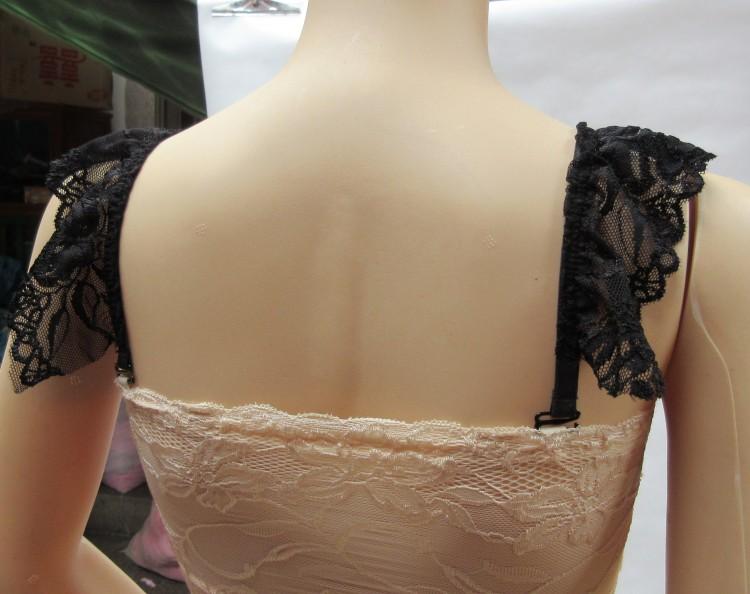 2件包邮公主礼服裹胸大蕾丝边双肩肩带 大花边内衣带隐形文胸罩带