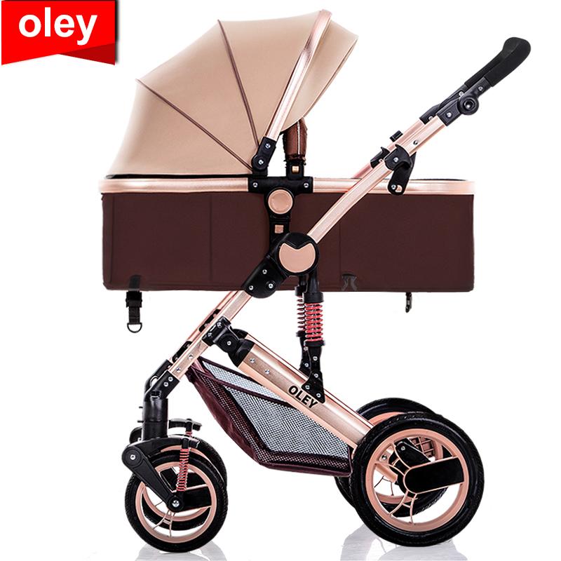 欧朗高景观婴儿推车可坐可躺儿童宝宝bb手推车减震折叠轻便婴儿车