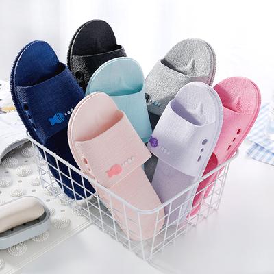 居家男女夏季凉拖鞋浴室内防滑家居洗澡漏水情侣按摩塑料地板拖鞋