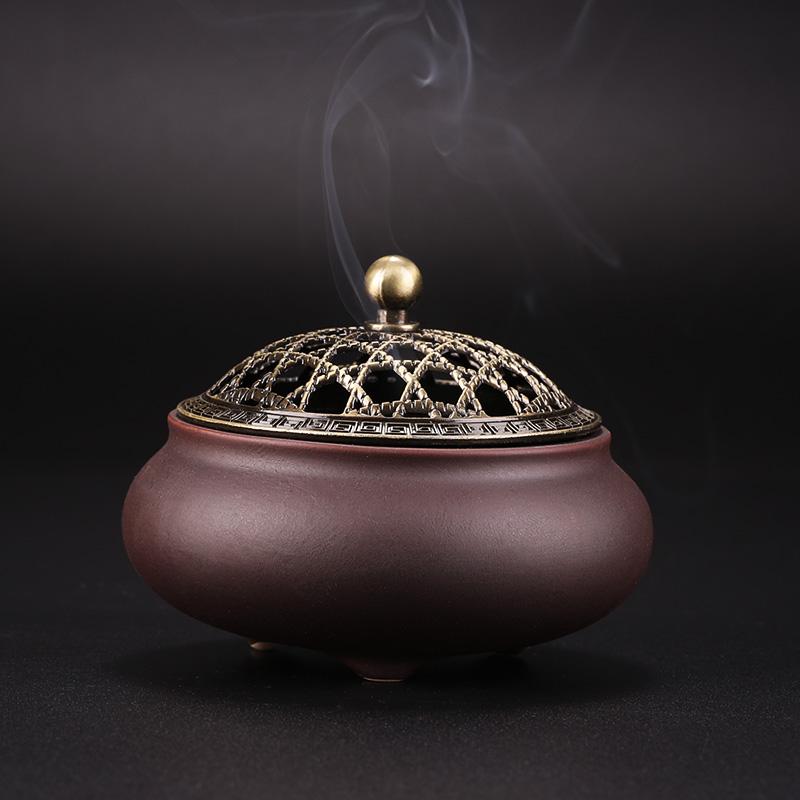 普云盘香炉家用室内香薰炉仿古创意摆件沉香盘香檀香炉陶瓷熏香炉