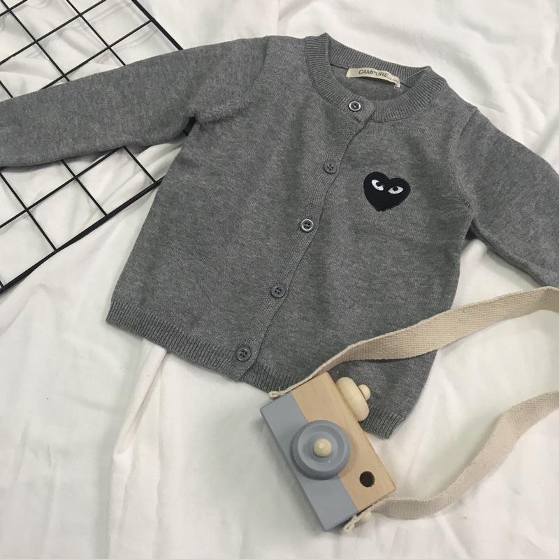 新年亲子装亲子开衫外套纯棉棉线针织外套儿童棉线毛衣针织衫