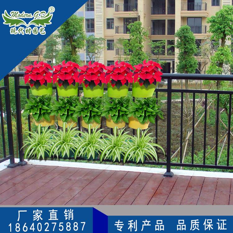 特惠绿色植物墙架子组合塑料花盆自动灌溉阳台壁挂绿植墙立体花架