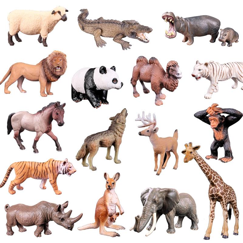 正品散货儿童实心仿真动物园玩具模型野生世界牧场森林套装狮子王
