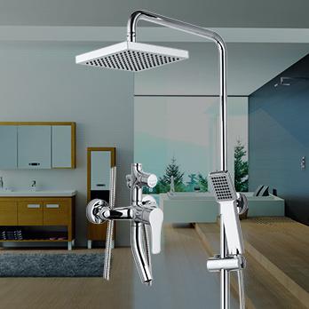 ARROW新品箭牌卫浴冷热全铜龙头升降杆方形淋浴花洒AE3309-B
