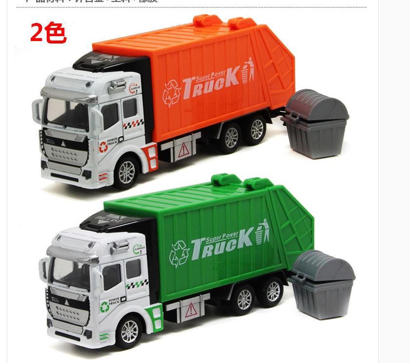 天天特价合金工程车回力环卫车垃圾车油罐车洒水车儿童玩具车模型
