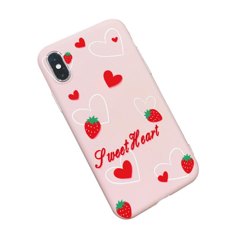 苹果6splus手机壳iPhonex液态硅胶套iphonexr情侣6/6s/7/8/plus网红抖音iPhone xs max潮牌xr同款6p小时7p八x