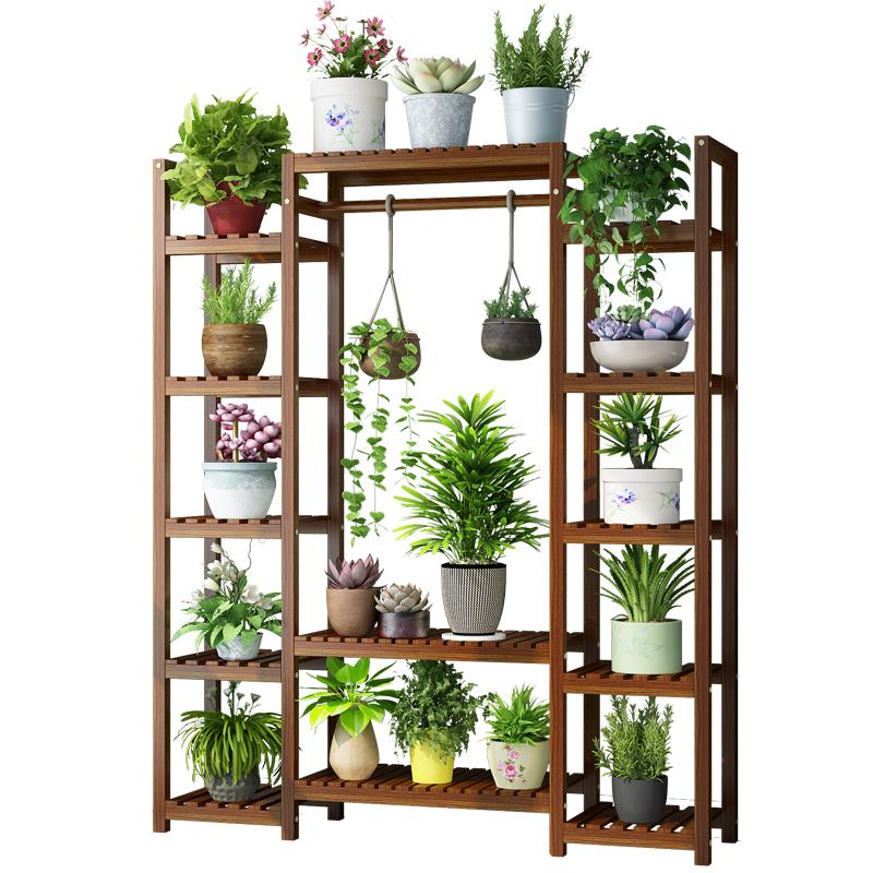 實木質置物架花架子多層室內特價陽臺客廳省空間綠蘿落地式花盆架