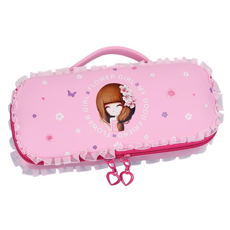 咔米嗒文具盒女小学生可爱女生文具袋女孩笔盒公主笔袋儿童铅笔盒