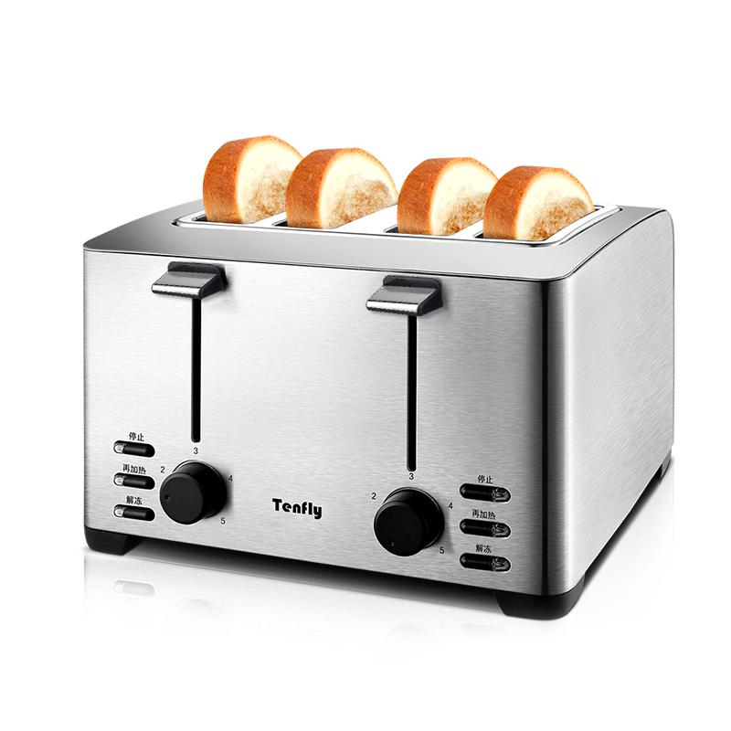 德国Tenfly不锈钢烤面包机家用商用酒店多士炉4片早餐三明治吐司主图