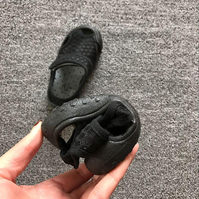 夏季幼儿园鞋儿童宝宝网眼透气凉鞋包头休闲防滑女童休闲沙滩布鞋