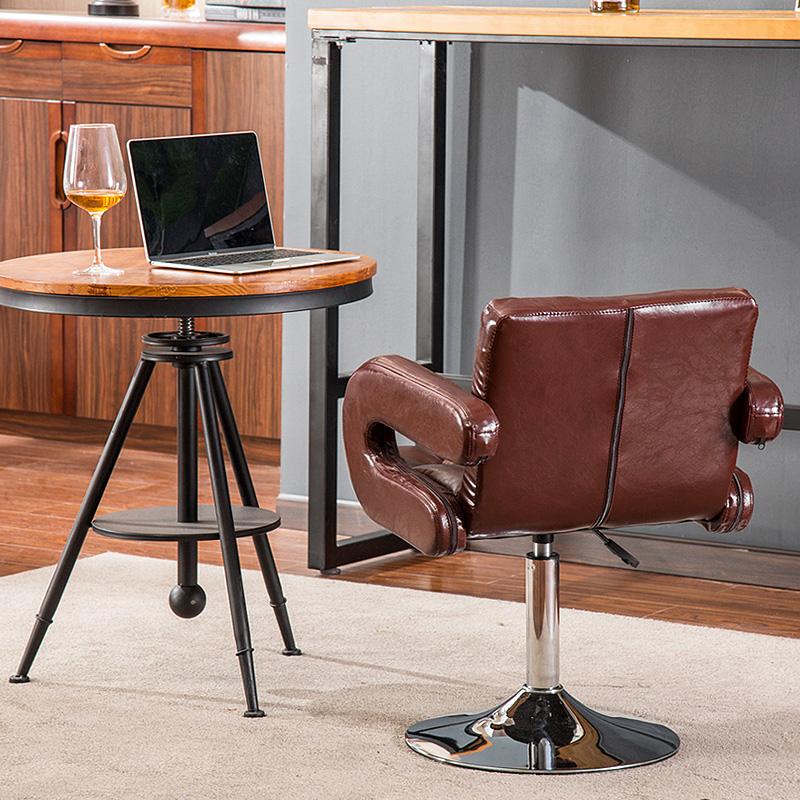 艺颂吧台椅家用酒吧桌椅升降高脚椅子手机店靠背凳子现代简约吧椅