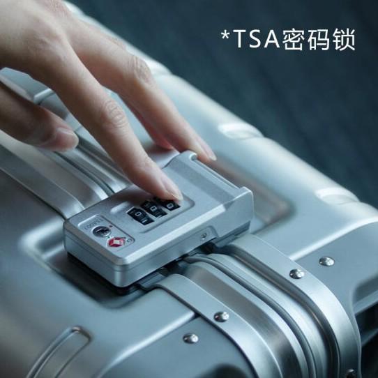 寸旅行箱万向轮拉杆箱商务登机箱铝镁合金 20 分金属箱行李箱 90 小米