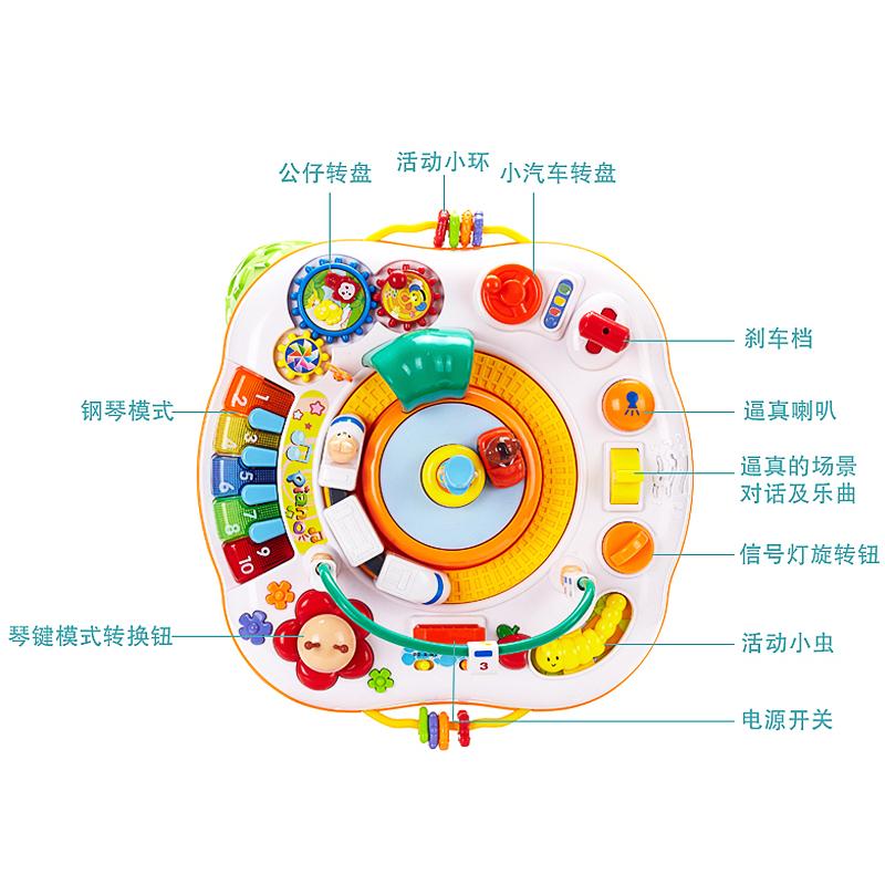 谷雨游戏桌早教益智幼儿学习台1-3岁宝宝儿童多功能男孩婴儿玩具2主图