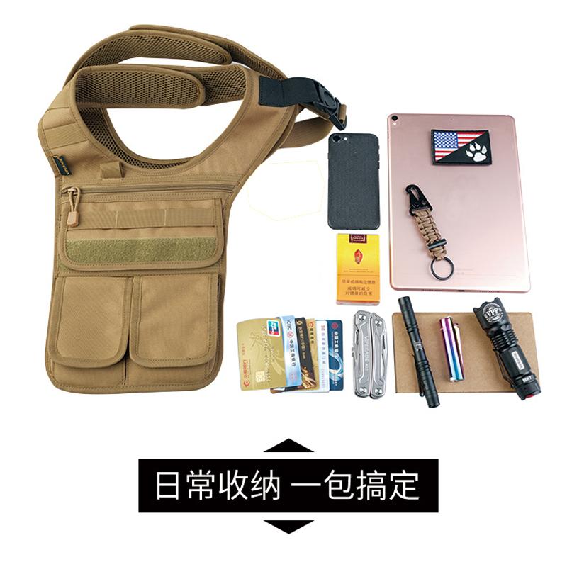 专柜品牌男战术装袋多功能迷彩挂包留守黑色跑步新式腰包支持采购