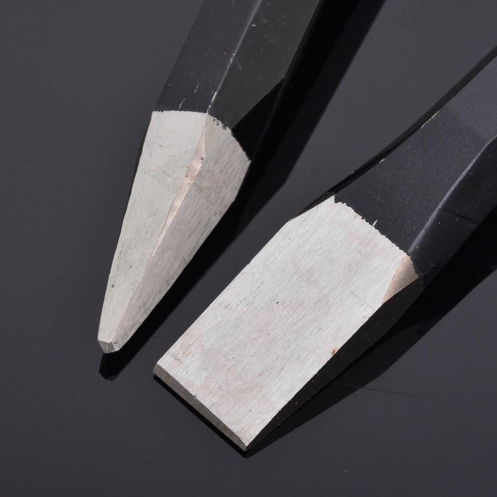 华丰巨箭石工凿凿子钢凿子尖凿钳工凿 水泥打墙壁打铁錾子安全锤