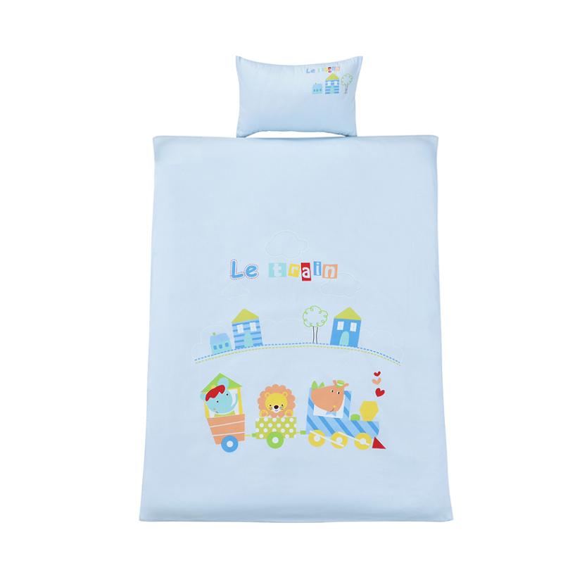 艾娜骑士 精梳棉 婴儿床品 宝宝 幼儿园 儿童被套枕套全棉 无荧光