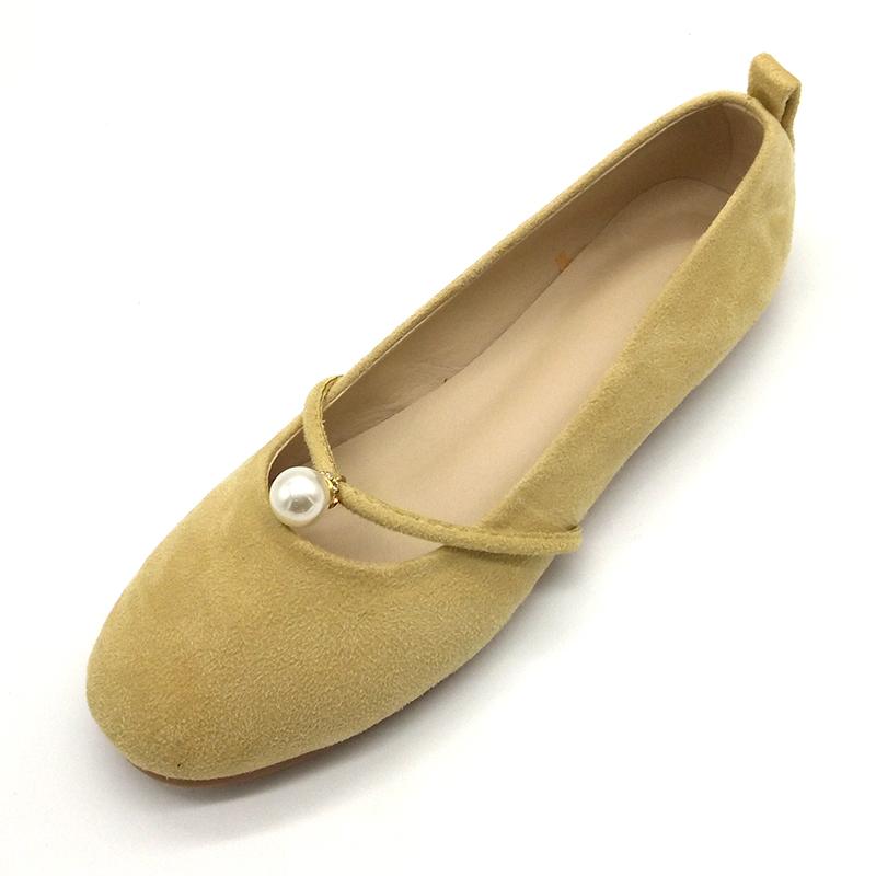 配裙子的仙女鞋黑色温柔鞋单鞋女平底鞋日常芭蕾上班圆头玛丽珍鞋