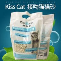 Kiss Cat豆腐猫砂3.8L豆腐砂除臭猫咪用品无尘除臭结团猫沙 (¥9(券后))