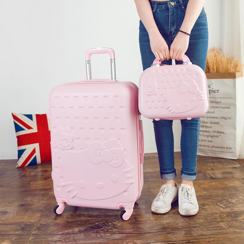可爱行李箱女拉杆箱儿童旅行箱韩版皮箱24寸学生密码箱卡通子母箱