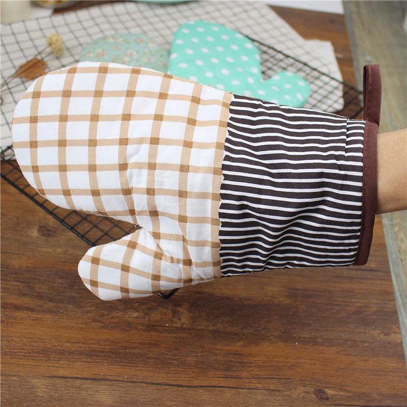加厚烘焙耐高温微波炉烤箱手套隔热防烫棉质手套2只装 烘焙工具