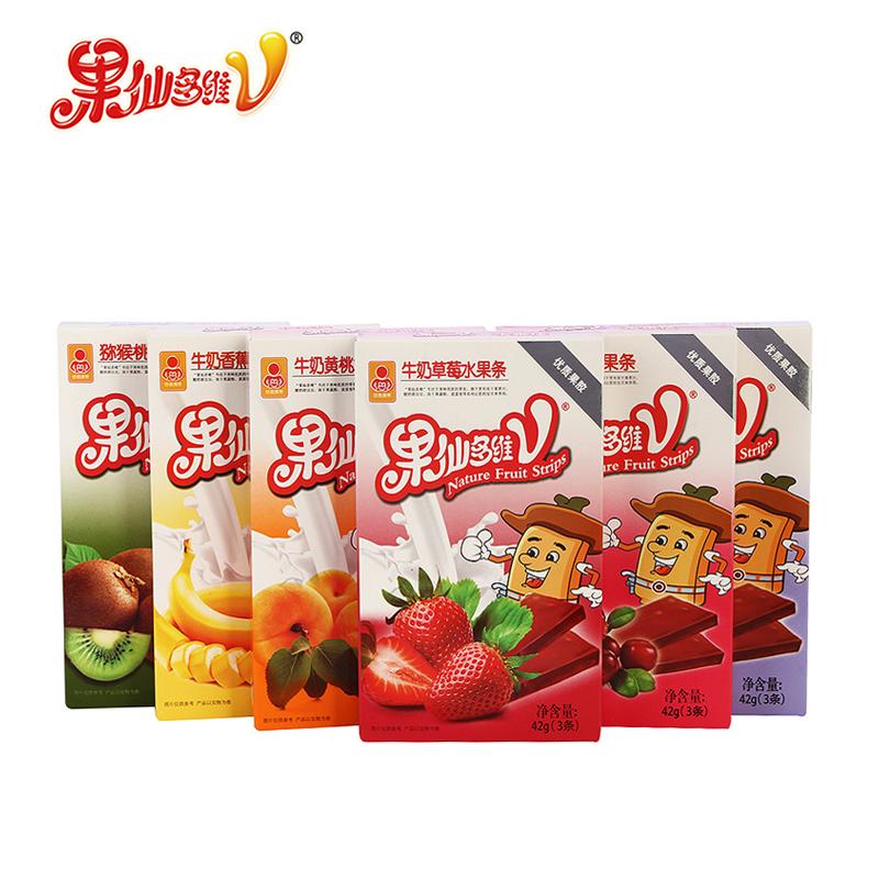 果仙多维水果条宝宝零食水果条果肉条儿童磨牙6口味组合42g*6