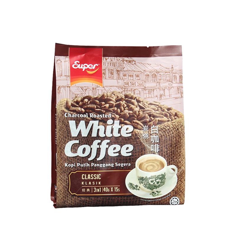 马来西亚进口怡保super超级炭烧白咖啡经典三合一速溶咖啡粉600g