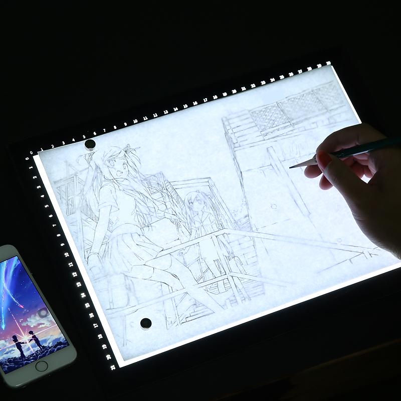 拷贝台绘画画专业级led临摹板a4a3A2动漫画书法透光投影神器透写