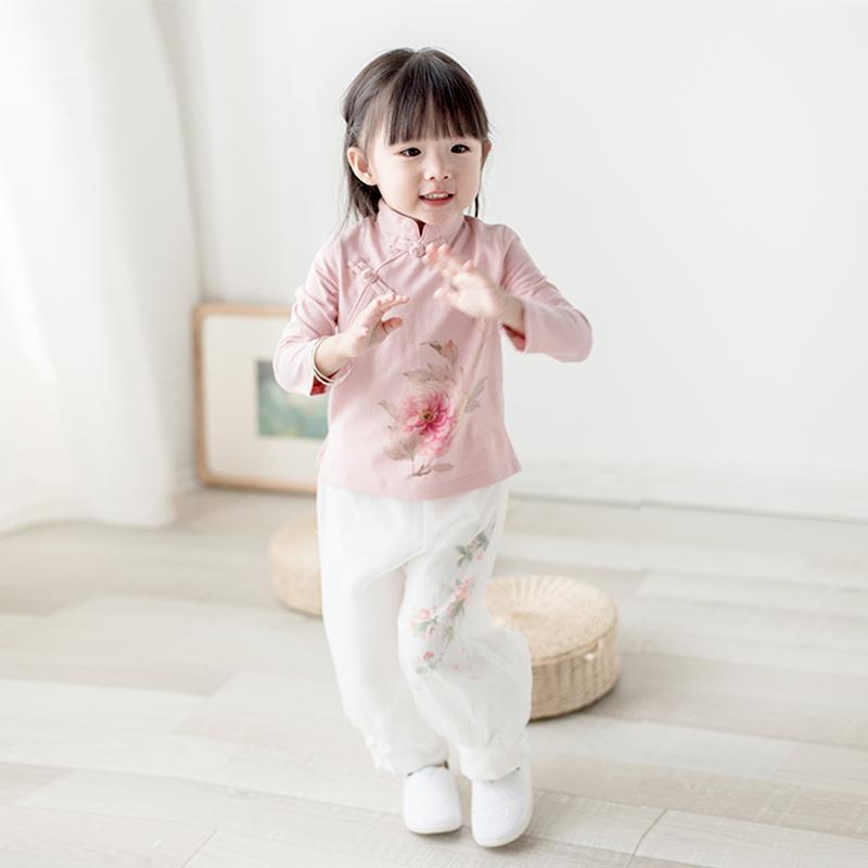 女童汉服改良中国风古装儒裙儿童装小女孩复古风民族风女宝宝唐装