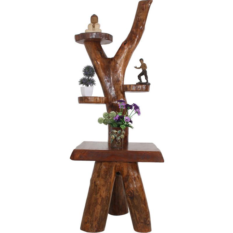 原木家具 实木洗手盆架脸盆架浴室架樟木简约原生态面盆架置物架