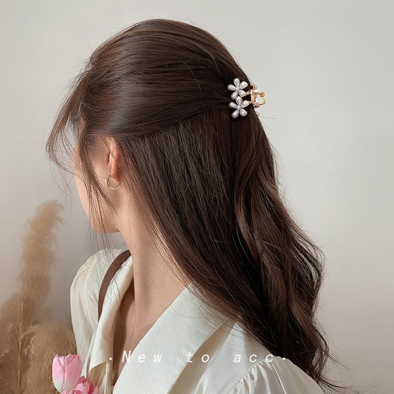五瓣花珍珠小号后脑勺抓夹~仙女发夹韩国ins发抓网红发卡超仙头饰