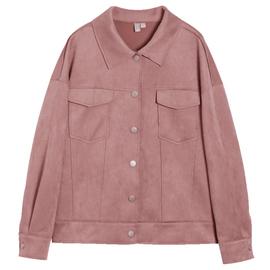 杜鹃同款对白2020新款外套女春季仿麂皮派克宽松港风潮短款夹克衫