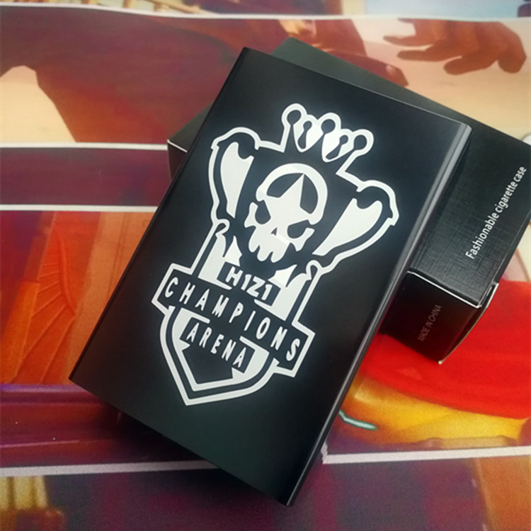 绝地求生周边烟盒20支装超薄创意男士便携自动弹盖菸烟具DIY图