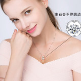 PT950 platinum necklace 18K white gold wild jewelry chain clavicle Valentines Day present for his girlfriend