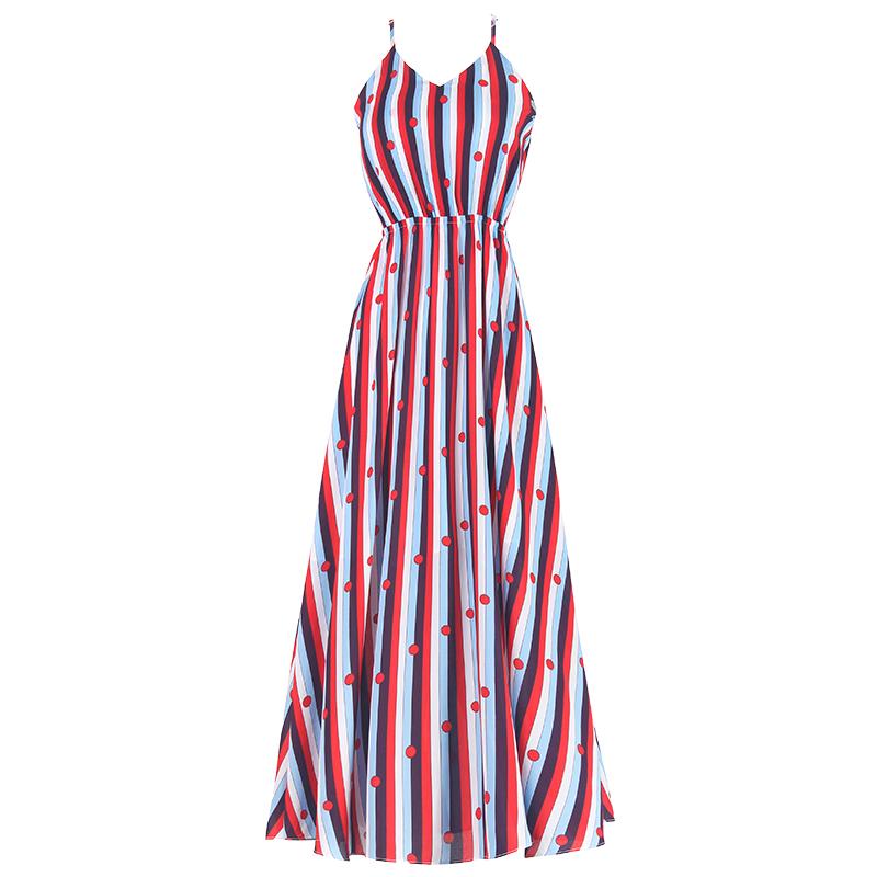 泰国普吉岛显瘦小个子沙滩裙海南三亚海边渡假雪纺吊带连衣裙夏季