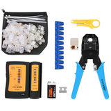 Cable clamp set home multi-function five class six crimping pliers crystal head connector pliers network tester network clamp pliers tool pliers blade broadband line production professional stripping pliers