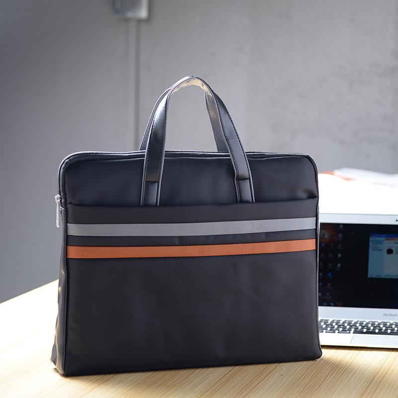 帆布文件袋手提拉链会议公文事资料包文件包定制LOGO