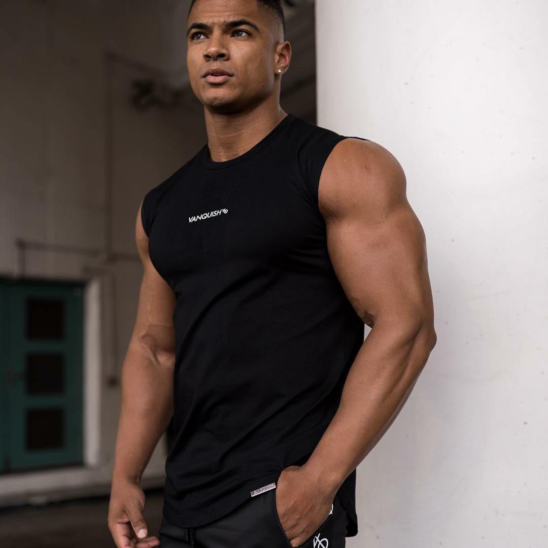 肌肉健身兄弟夏季男士跑步运动训练坎肩棉质吸汗弹力透气
