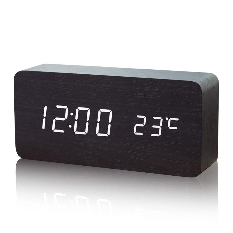 LED創意鬧鐘靜音夜光電子時鐘數字表兒童可愛學生檯鐘座鐘表床頭