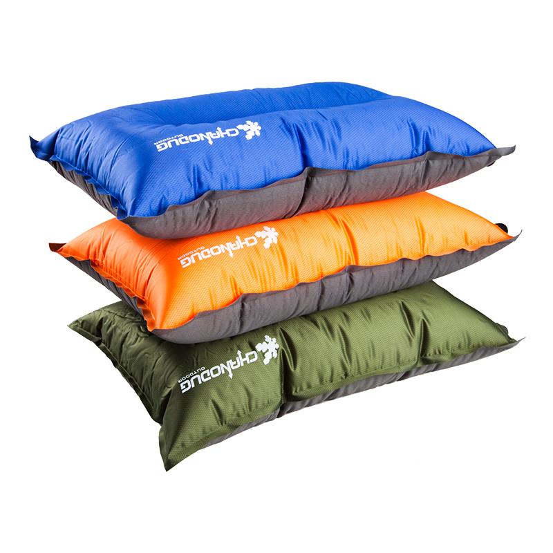 夏諾多吉 戶外自動充氣枕頭 睡枕便攜旅行枕 護頸靠枕旅遊午休枕