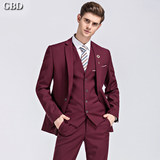 Business suit suit male groomsman clothing Korean version of the men's wedding is fitting the dress suit male wedding groom